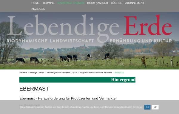 Vorschau von www.lebendigeerde.de, Ebermast - Herausforderung für Produzenten und Vermarkter