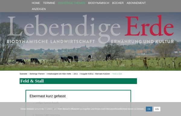 Vorschau von www.lebendigeerde.de, Ebermast kann lohnen