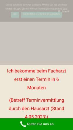 Vorschau der mobilen Webseite www.praxis-am-kirchhof.de, Praxis am Kirchhof