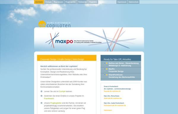 Vorschau von www.dk-copiloten.de, Duwe & Kurtenbach - die copiloten - communicationsdesign