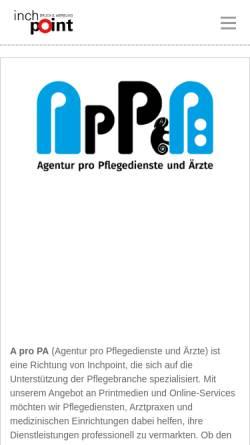 Vorschau der mobilen Webseite www.inchpoint.de, Inchpoint GmbH