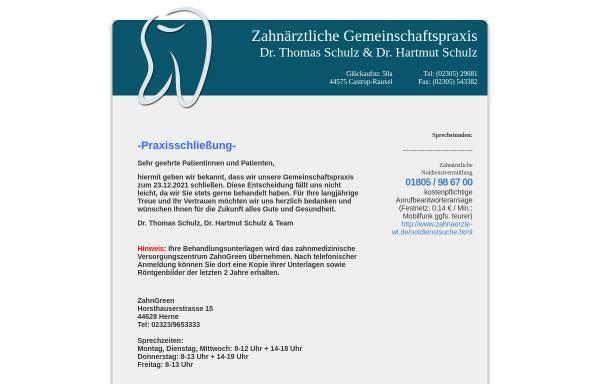 Vorschau von zahnarztpraxis-castrop.de, Dr. med. dent. Thomas Schulz und Dr. med. dent. Hartmut Schulz