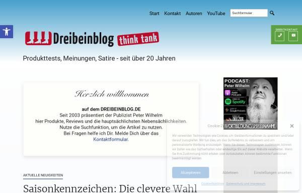Vorschau von dreibeinblog.de, Dreibeinblog-Thinktank