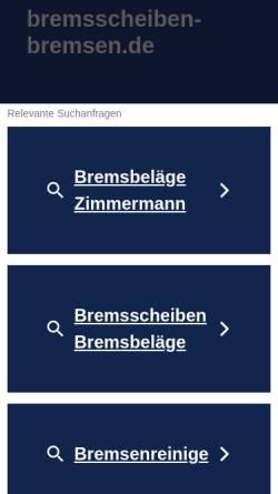 Vorschau der mobilen Webseite www.bremsscheiben-bremsen.de, Bremsscheiben-bremsen.de