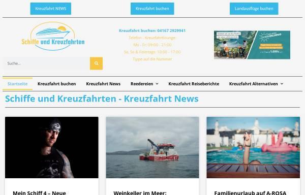 Vorschau von www.schiffe-und-kreuzfahrten.de, Pascal Wepner Kreuzfahrtblog