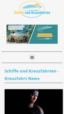 Vorschau der mobilen Webseite www.schiffe-und-kreuzfahrten.de, Pascal Wepner Kreuzfahrtblog
