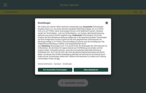 Vorschau von www.gruenewoche.de, Internationale Grüne Woche Berlin