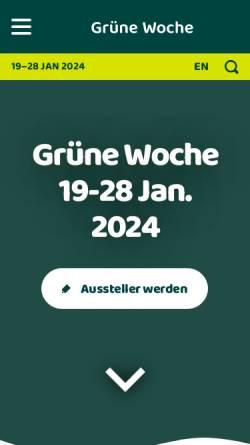 Vorschau der mobilen Webseite www.gruenewoche.de, Internationale Grüne Woche Berlin