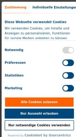 Vorschau der mobilen Webseite www.axicorp.de, AxiCorp GmbH