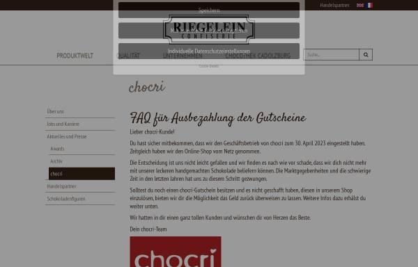 Vorschau von www.chocri.de, Chocri GmbH