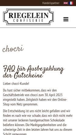 Vorschau der mobilen Webseite www.chocri.de, Chocri GmbH