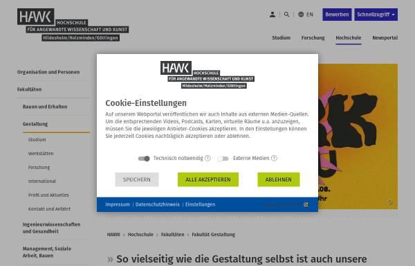 Vorschau von www.hawk-hhg.de, Fachhochschule Hildesheim/Holzminden/Göttingen - Fakultät Gestaltung