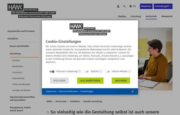 Vorschau von www.hawk-hhg.de, Hochschule Hildesheim/Holzminden/Göttingen - Fakultät Gestaltung