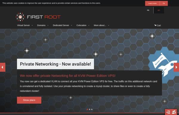Vorschau von www.first-root.com, First Root UG