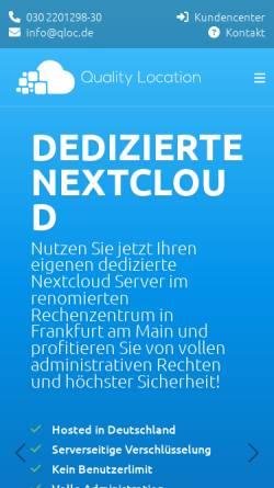 Vorschau der mobilen Webseite www.qloc.de, Quality Location UG