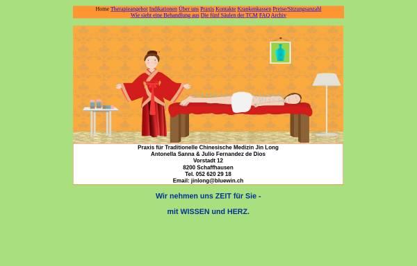 Vorschau von www.akupunkturpraxis-sh.ch, Praxis für Traditionelle Chinesische Medizin Jin Long