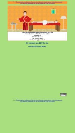 Vorschau der mobilen Webseite www.akupunkturpraxis-sh.ch, Praxis für Traditionelle Chinesische Medizin Jin Long