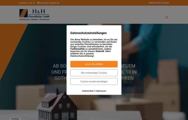 Vorschau von www.hh-makler.de, H&H Finanzmakler GmbH - Versicherung, Finanzierung, Investment