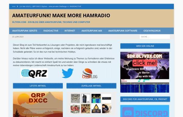 Vorschau von www.dl7vdx.com, DL7VDX