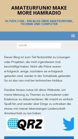 Vorschau der mobilen Webseite www.dl7vdx.com, DL7VDX