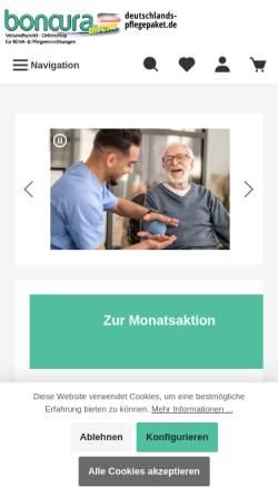 Vorschau der mobilen Webseite www.boncura-direkt.eu, BonCura GmbH & Co. KG