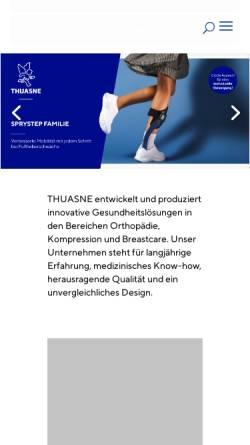 Vorschau der mobilen Webseite www.thuasne.de, Thuasne Deutschland GmbH
