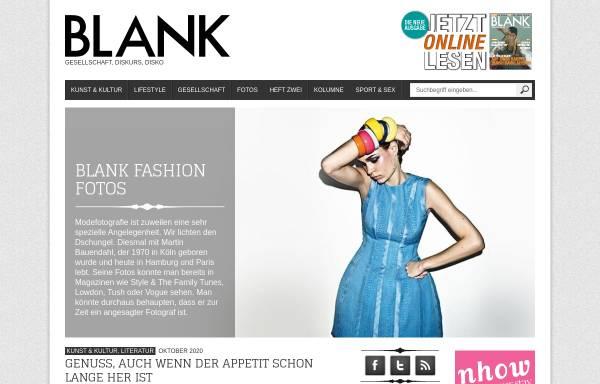 Vorschau von www.blank-magazin.de, Blank Magazin