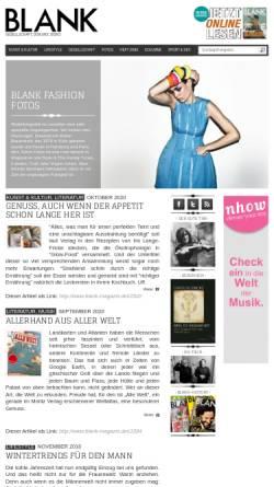 Vorschau der mobilen Webseite www.blank-magazin.de, Blank Magazin