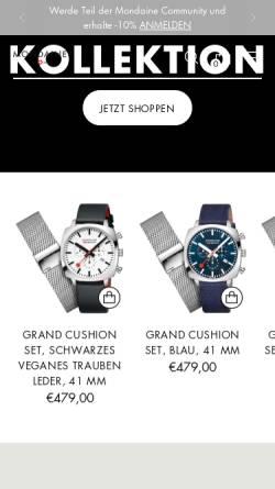 Vorschau der mobilen Webseite www.mondaine.de, Mondaine