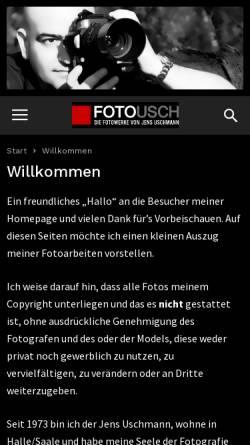 Vorschau der mobilen Webseite fotousch.de, Uschmann, Jens