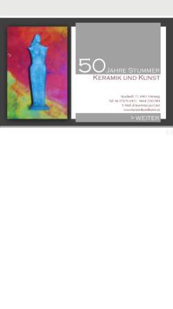 Vorschau der mobilen Webseite www.keramikundkunst.at, Keramik und Kunst Erwin Stummer