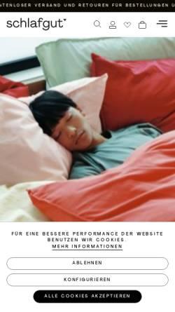 Vorschau der mobilen Webseite www.schlafgut.com, Adam Matheis GmbH & Co.