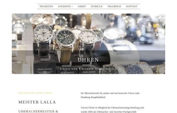 Vorschau von www.meister-lalla.de, Meister Lalla - Uhrmacher in Hamburg St. Georg