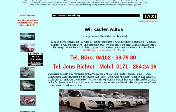 Vorschau von www.taxi-germany.de, Jens E. Richter - Taxenhandel