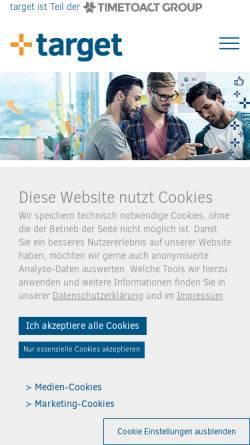 Vorschau der mobilen Webseite www.target-soft.com, Target Software Solution GmbH