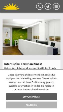 Vorschau der mobilen Webseite www.doc-kinast.de, Kinast, Dr. med. Christian