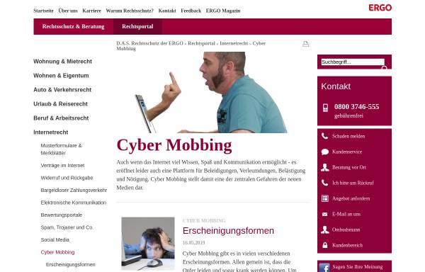 Vorschau von www.das.de, Internet & Computer: Cyber-Mobbing - D.A.S. Rechtsportal