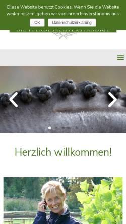 Vorschau der mobilen Webseite www.die-pferdesachverstaendige.de, Martina Kratzer
