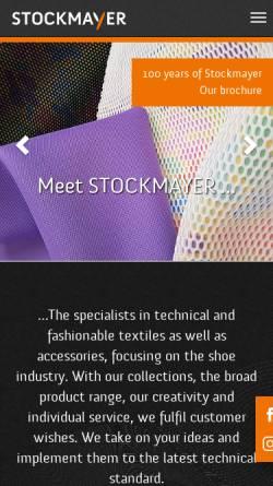 Vorschau der mobilen Webseite www.stockmayer.com, Otto Stockmayer + Sohn GmbH