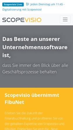 Vorschau der mobilen Webseite www.scopevisio.com, Scopevisio AG