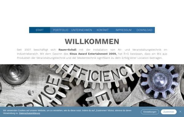 Vorschau von www.raumplusschall.de, Raum plus Schall