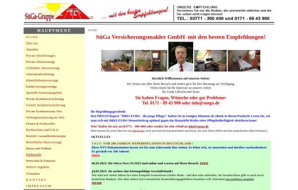 Vorschau von www.suega.de, SüGa Versicherungsmakler GmbH
