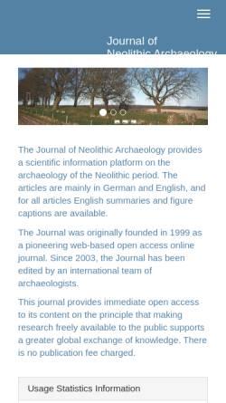 Vorschau der mobilen Webseite www.jna.uni-kiel.de, JungsteinSite