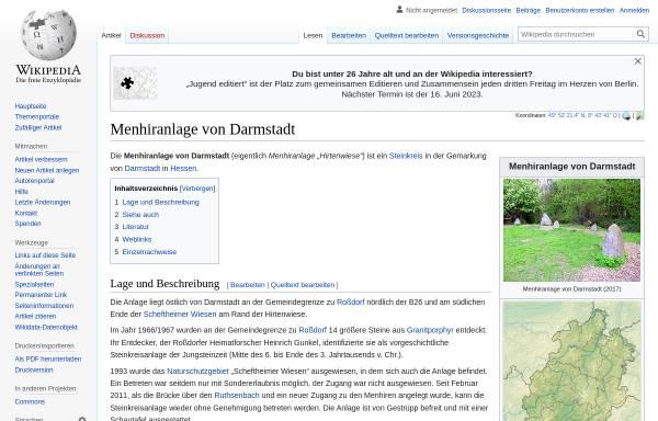 Vorschau von www.menhire.de, Menhire.de