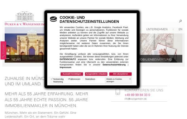 Vorschau von www.wangenheim.de, Duken & v. Wangenheim AG