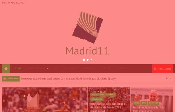 Vorschau von www.madrid11.com, Weltjugendtag Madrid 2011