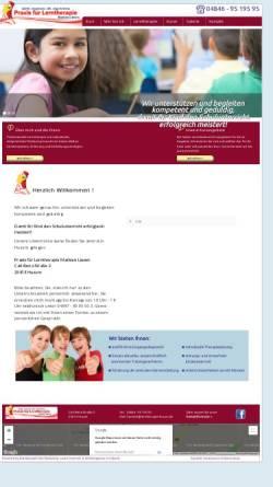 Vorschau der mobilen Webseite www.lerntherapie-husum.de, Praxis für Lerntherapie