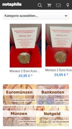 Vorschau der mobilen Webseite www.notaphila.de, Notaphila GmbH