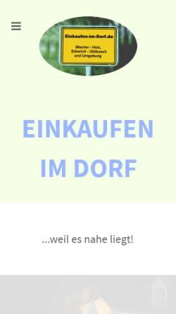 Vorschau der mobilen Webseite einkaufen-im-dorf.de, Einkaufen im Dorf