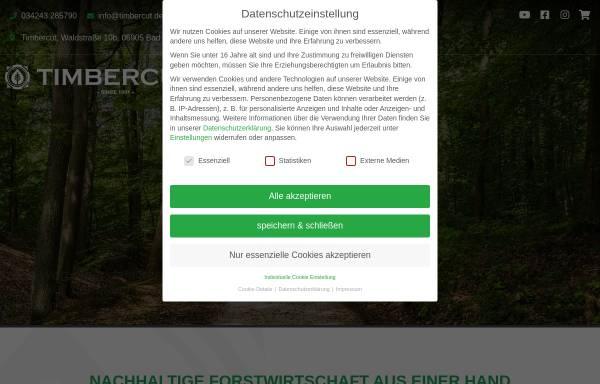 Vorschau von www.timbercut.de, Forstdienstleistungen Holm Kollautz